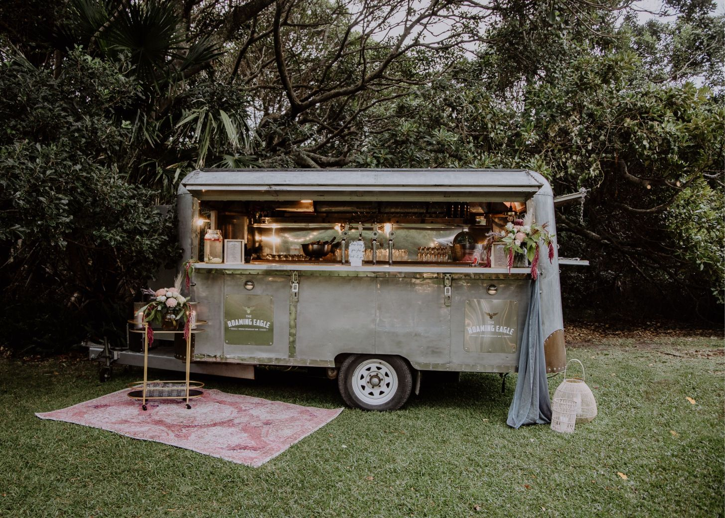 rustic vintage mobile wedding caravan bar hire newcastle
