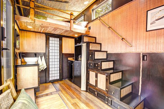 Tiny house town the bamboo at tiny digs portland hotel - Small homes big space collection ...