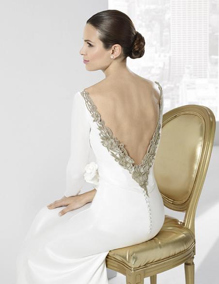 decisiones: si: vestidos de novia con escote en la espalda