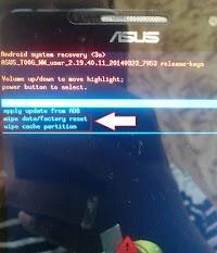 Cara Flash Asus Zenfone 5 T00F/T00J Bootloop Via Flash Tool