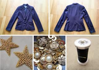Ceketi Yeleğe Çevirerek Süsleme Yapımı