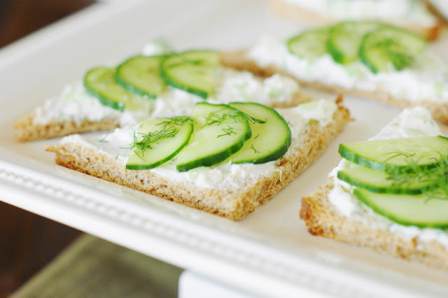 Open-Faced Cucumber Tea Sandwiches image