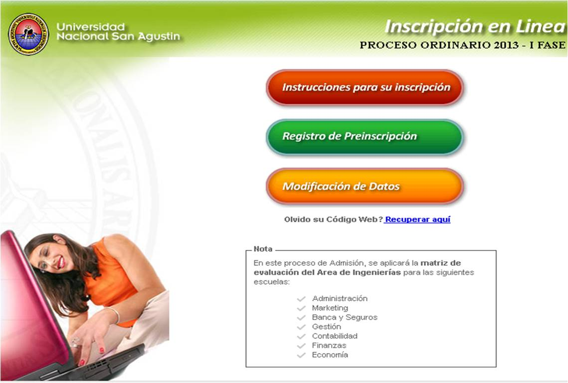 El sapito de Arequipa: Instrucciones para la Inscripción Ordinario ...