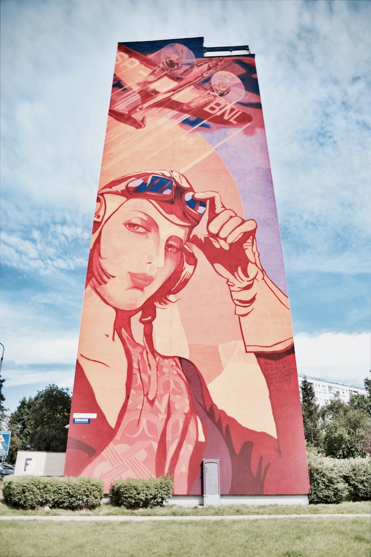 Murale w Gdańsku, Murale Gdańsk Zaspa, co zobaczyć w Gdańsku, Gdańsk atrakcje, Trójmiasto co zobaczyć, Trójmiasto przewodnik, Gdańsk mural Łępicka