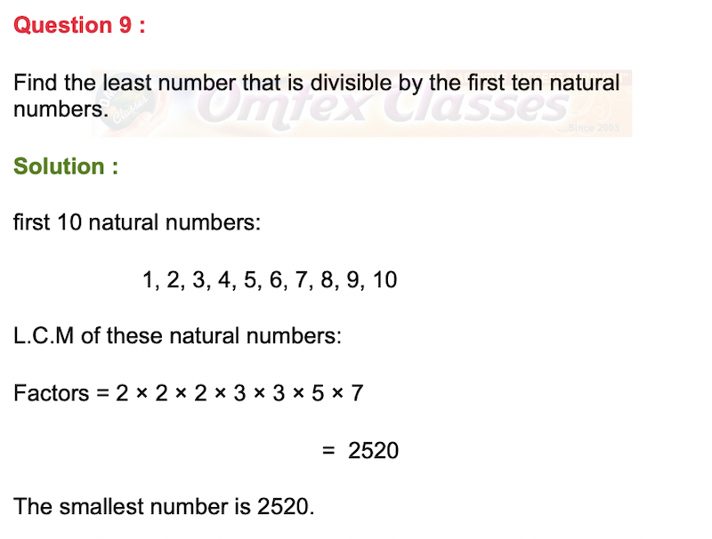 Find the least number that is divisible by the first ten natural numbers.
