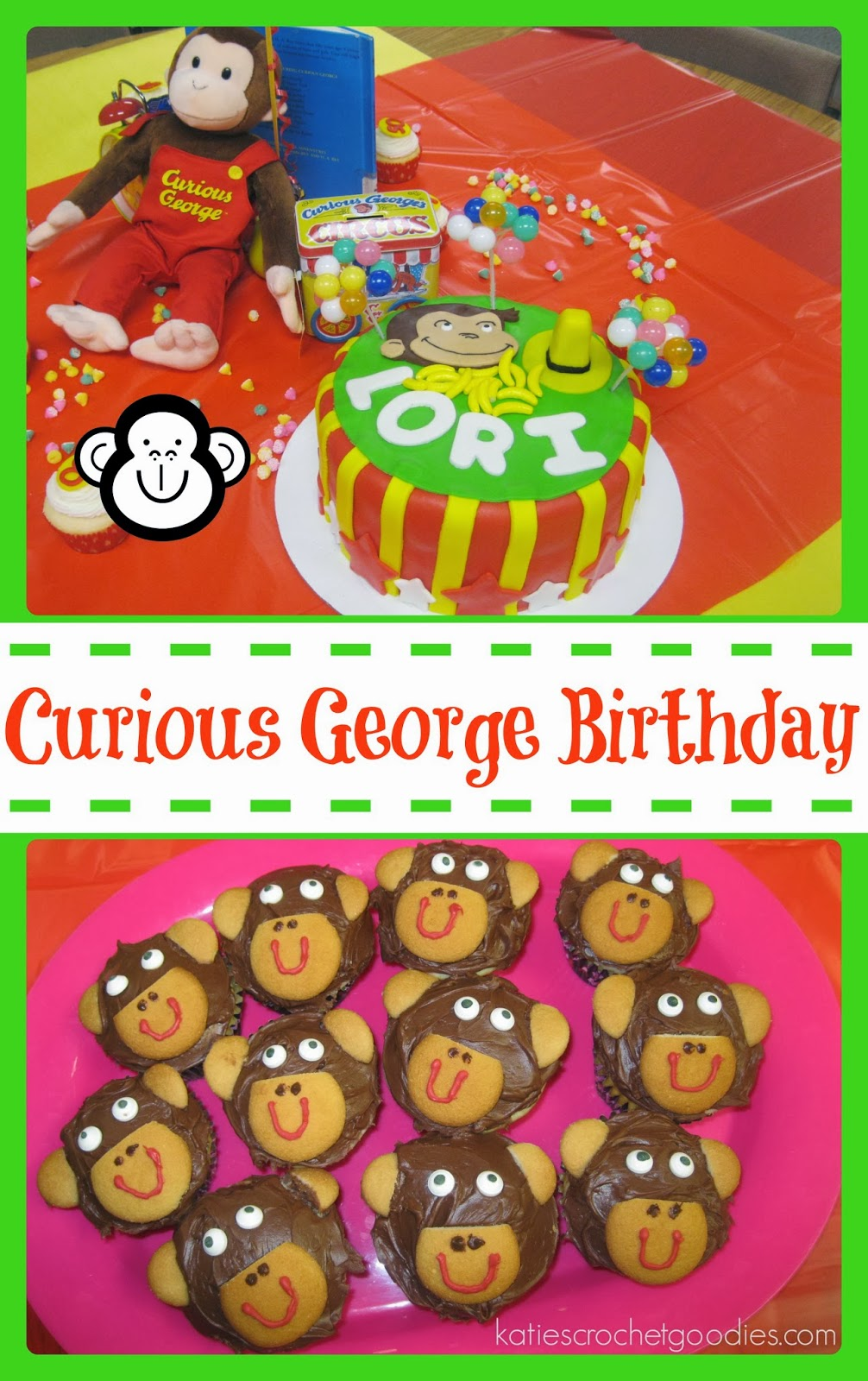 sc 1 st  Katie\u0027s Crochet Goodies & Curious George Birthday - Katie\u0027s Crochet Goodies