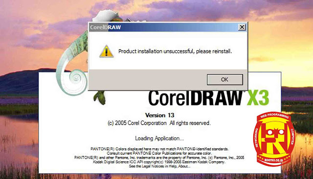 Masalah Product installation unsuccessful, please reinstal CorelDRAW X3
