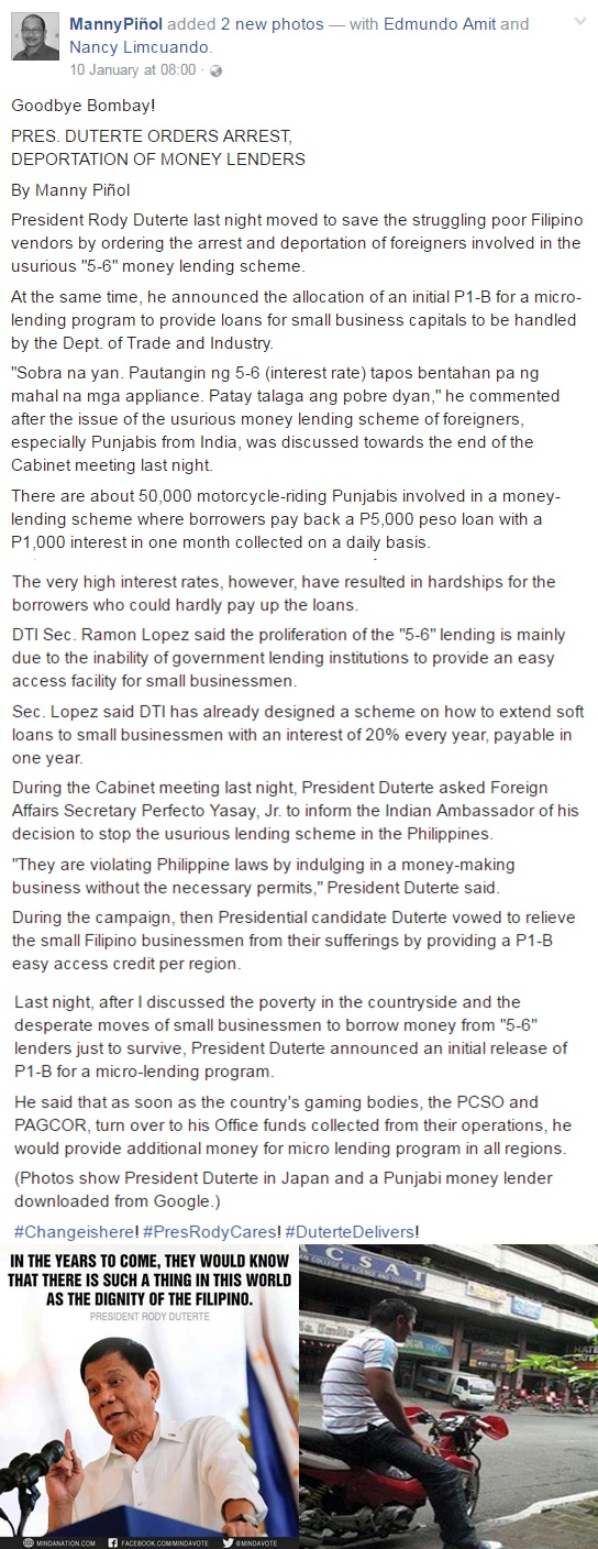 President Duterte Orders '5-6' Bumbays To Be Deported! What Is Your Take?
