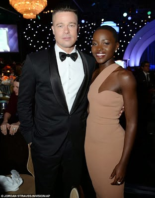 African Actress Lupita Gets a Kiss From Leonardo DiCaprio
