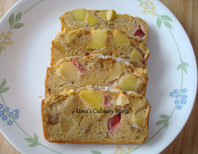 apple strawberry walnut cake