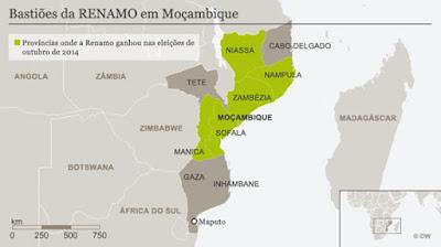 Va Mozambique hacia un conflicto armado