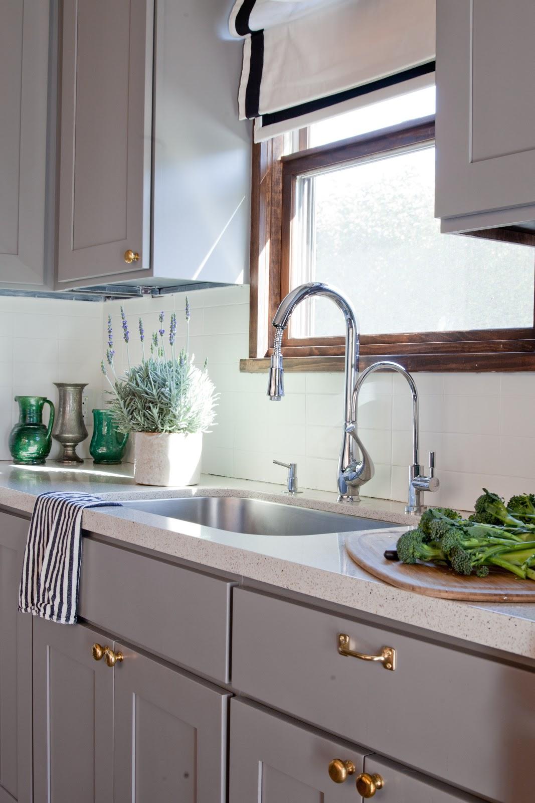 Brass Hardware Kitchen Utility Cabinet Rosa Beltran Design Affordable