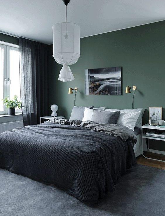 dark bedroom decoration idea