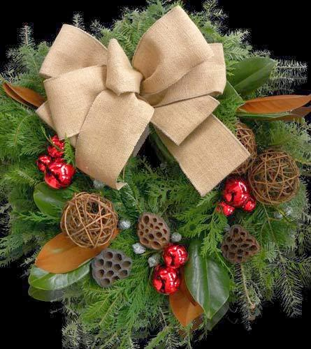 Organic Holiday Wreath