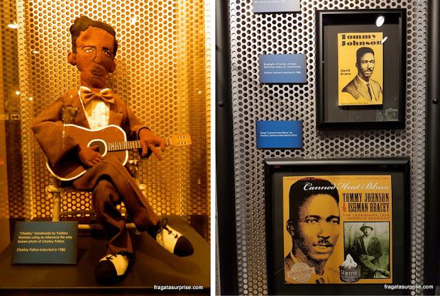 Charley Patton e Tommy Johnson no Hall da Fama do Blues, em Memphis