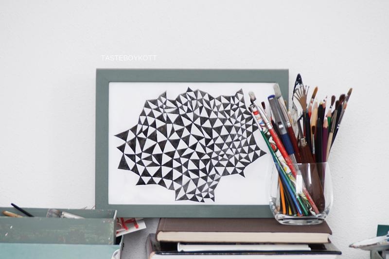 Diy Geometrische Kunst Mit Tusche In Schwarz Weiss Tasteboykott