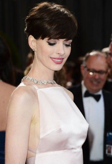 American actress and singer Anne Hathaway wore Prada Gown for 2013 Oscars