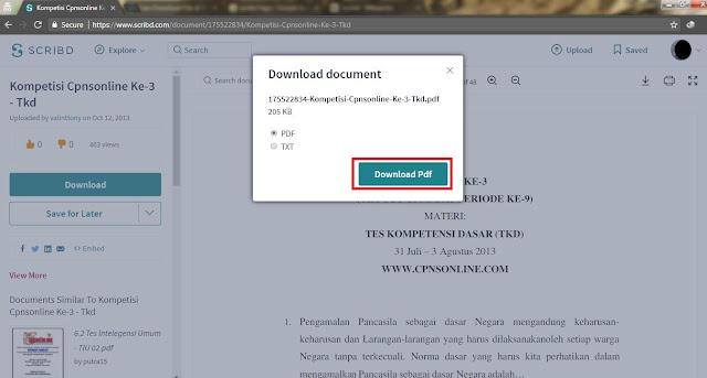Klik Download lalu Pilih Format yang diinginkan