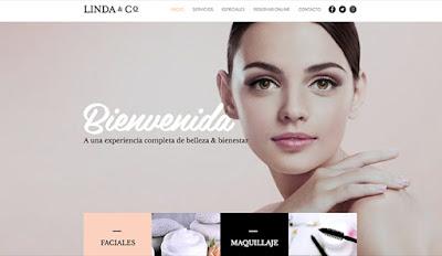 Diseño web productos belleza