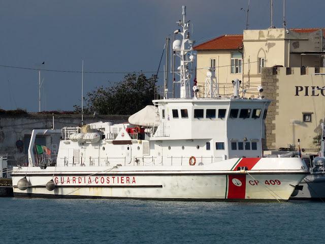 Italian Coast Guard deep-sea patrol boat Giulio Ingianni, port of Livorno