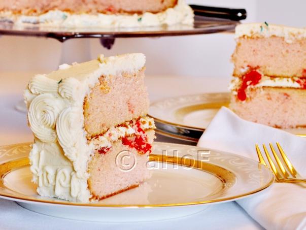 Maraschino Cherry Cake with Cream Cheese Frosting