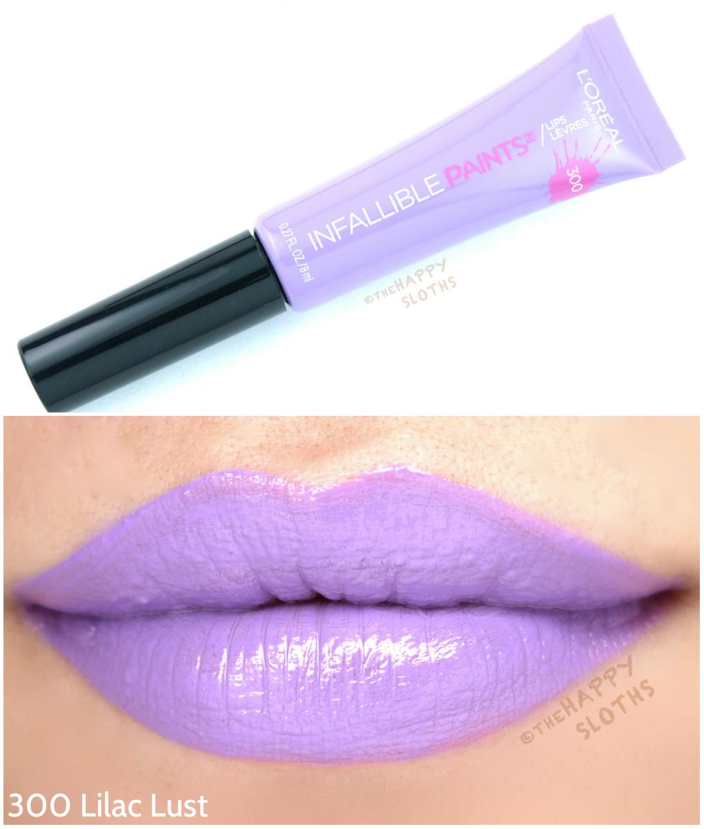 L'Oreal Infallible Lip Paints 300 Lilac Lust