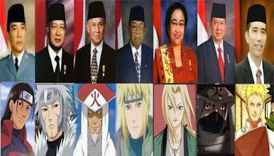 7 hokage dan 7 presiden