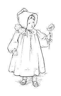 girl child vintage illustration download
