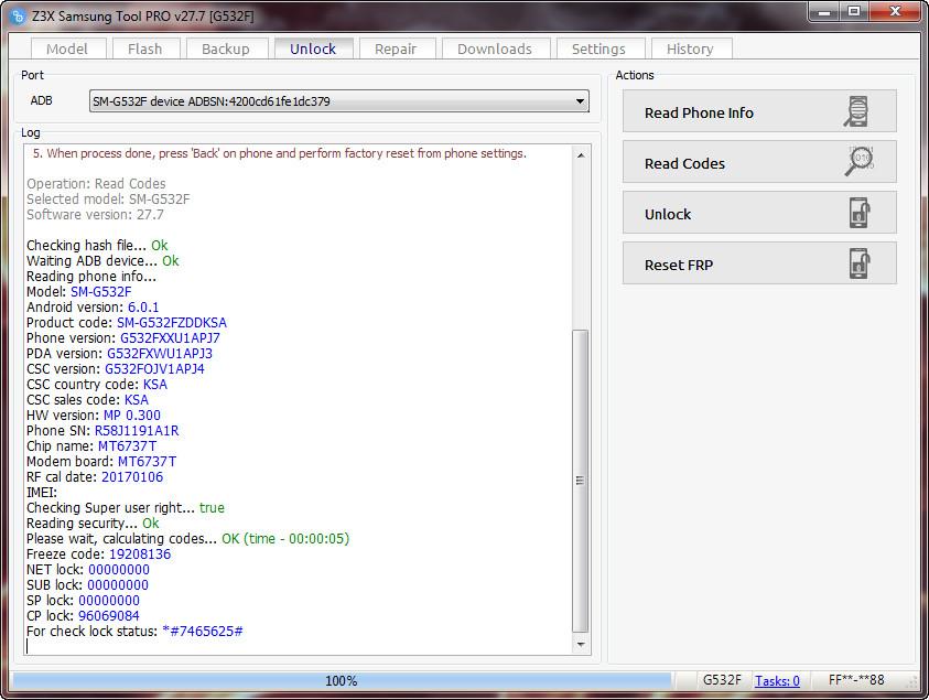 samsung galaxy grand prime pro country code unlock