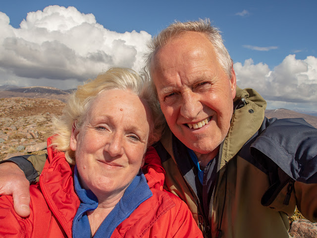 Photo of Phil and I at the summit of Meall Bhalach