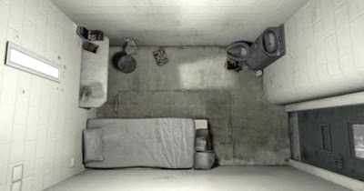 A room smaller than a parking space: Solitary confinement cell