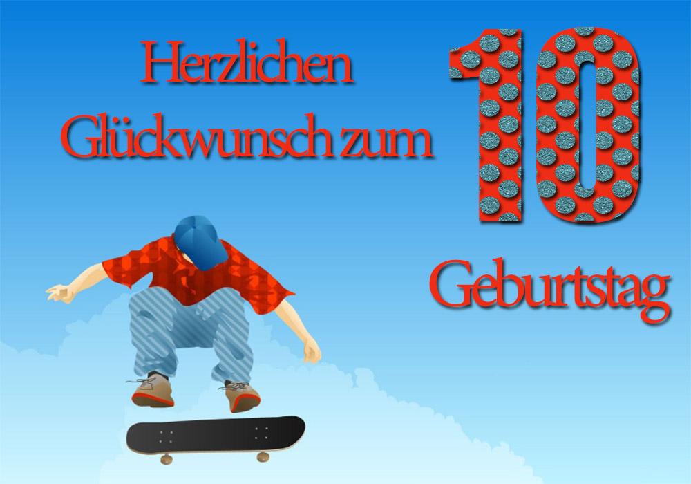 Glückwünsche 10. Geburtstag