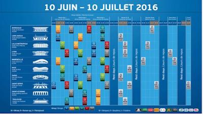Telecharger EURO 2016 Calendrier Excel