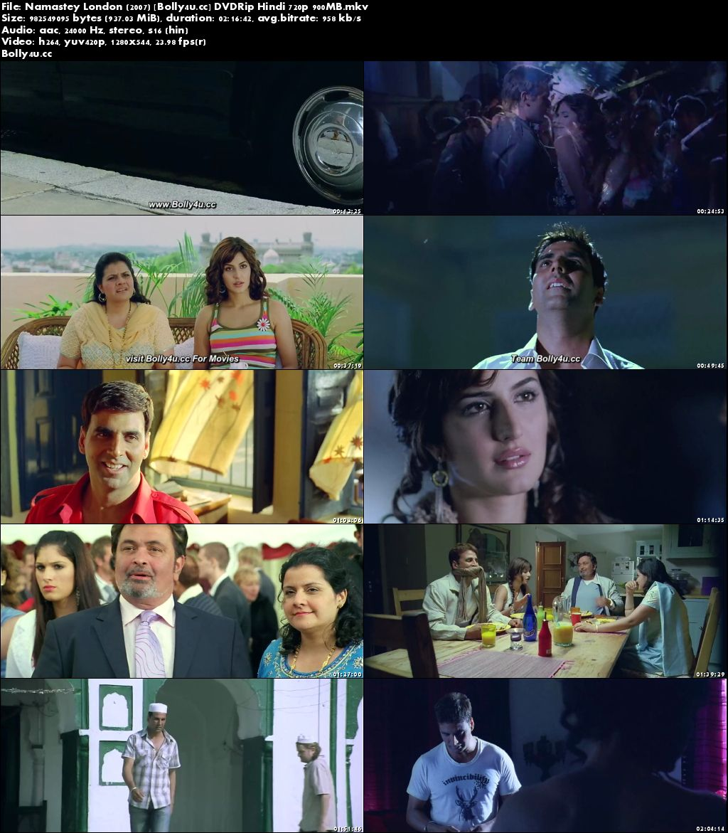 Namastey London 2007 DVDRip 400MB Hindi Movie 480p Download