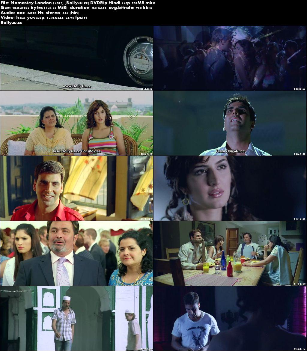 Namastey London 2007 DVDRip 900MB Hindi Movie 720p Download