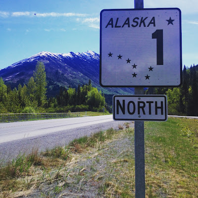 road sign in alaska