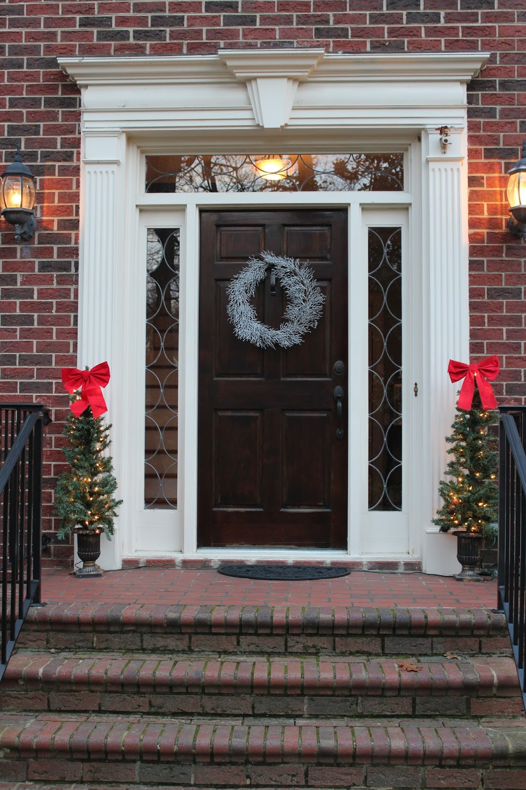 Why do we decorate our houses at christmas - Inside I Used The Garland That We Used To Have Outside At Our Old House On The Banister I Still Want To Get Some To Go Outside Around Our Front Door At