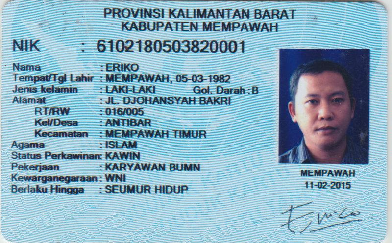Contoh E Ktp Surabaya - Terotoh