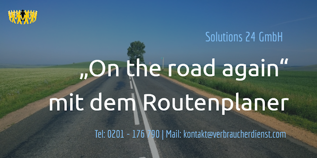 "Solution 24 GmbH  ""On the road again"" mit dem Routenplaner"