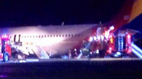 Airbus A320-200 of Asiana Airlines Crashed Scene