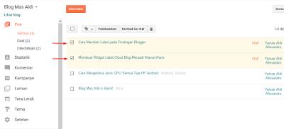 Memberi Label pada Postingan Blogger 2