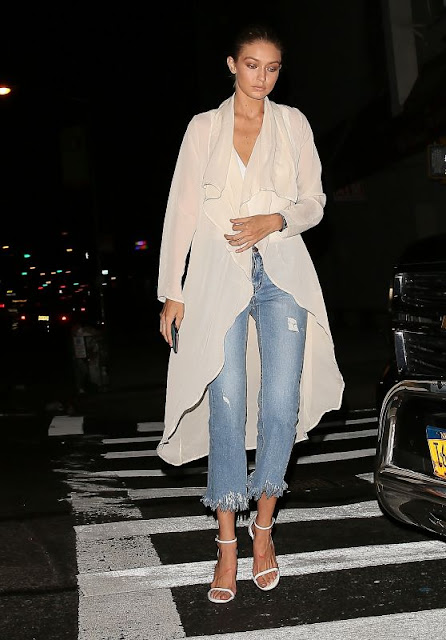 Gigi Hadid Arrives to Dinner in NYC