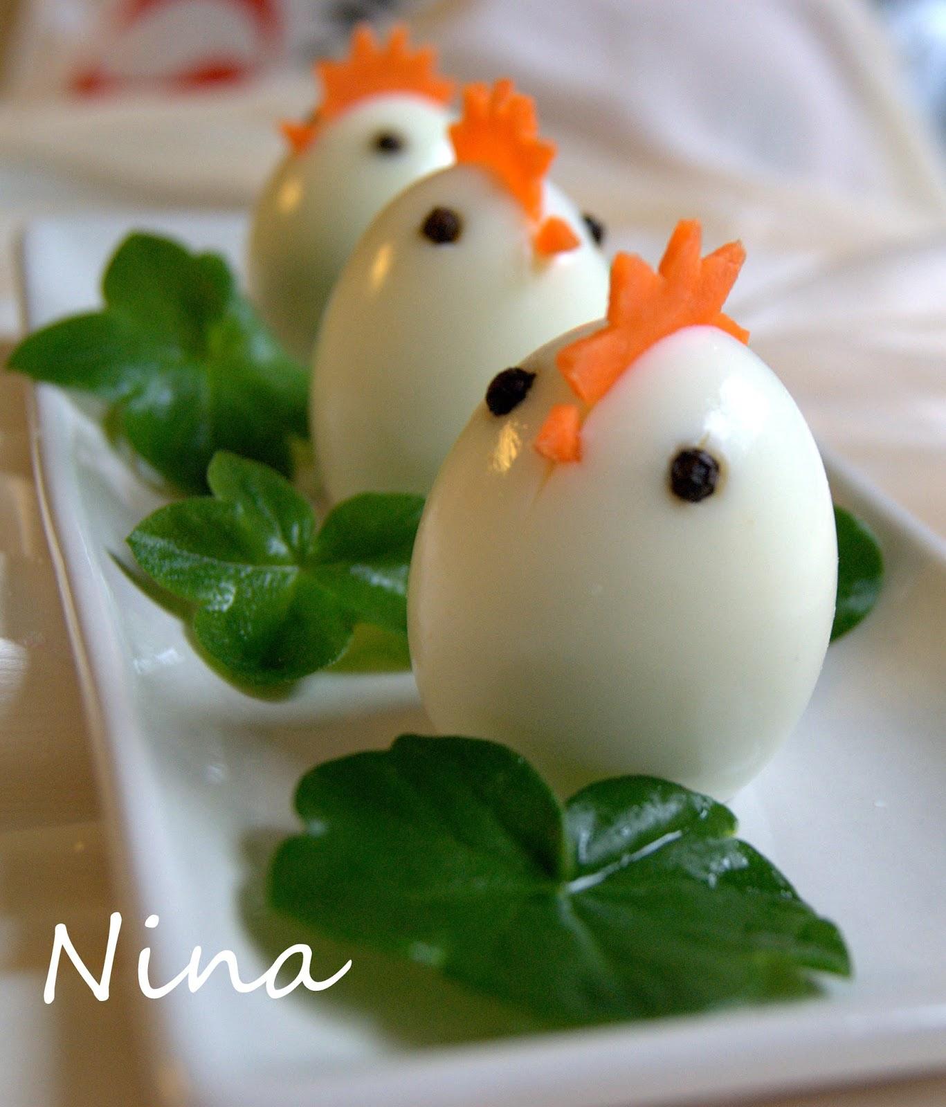 NINA'S RECIPES.....: CUTE EGGS APPETIZER
