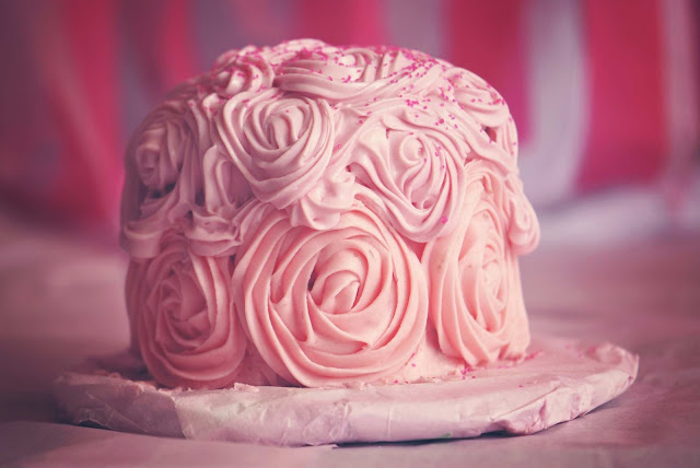 Free food stock photos and high quality images - Delicious Pink Birthday Cake.