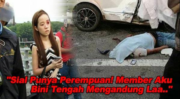 """""""Sial Punya Perempuan, Member Aku Bini Tengah Mengandung Laa.."""" – Insiden Perempuan Memandu Lawan Arus Di Highway"""