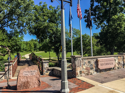 Ice Age Trail and Veterans Memorial Riverwalk in Delafield WI
