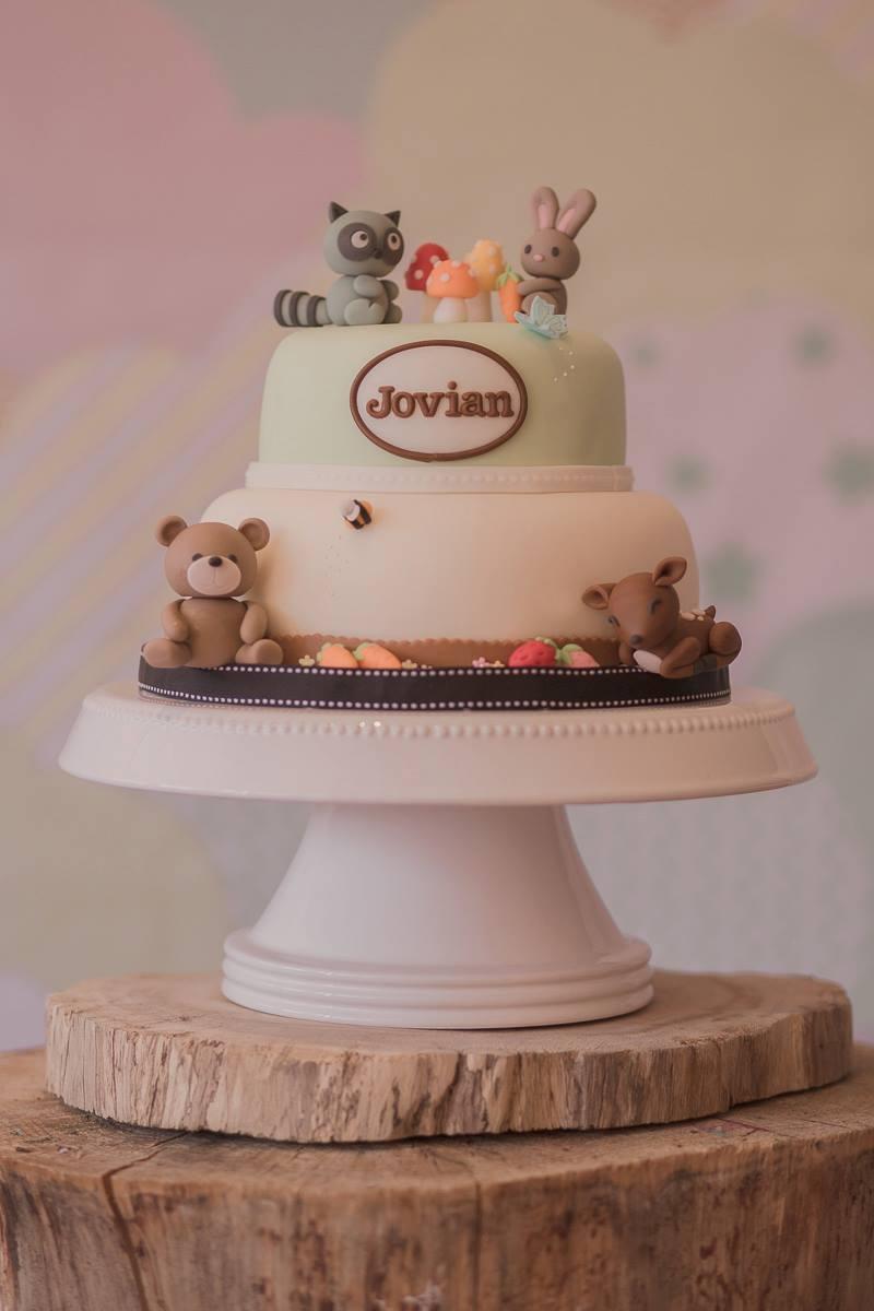 Beautiful Kitchen Woodland Animal Cake For Jovian