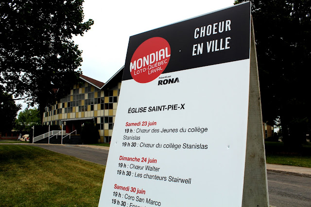 Our French name displayed at the Montreal Mondial event