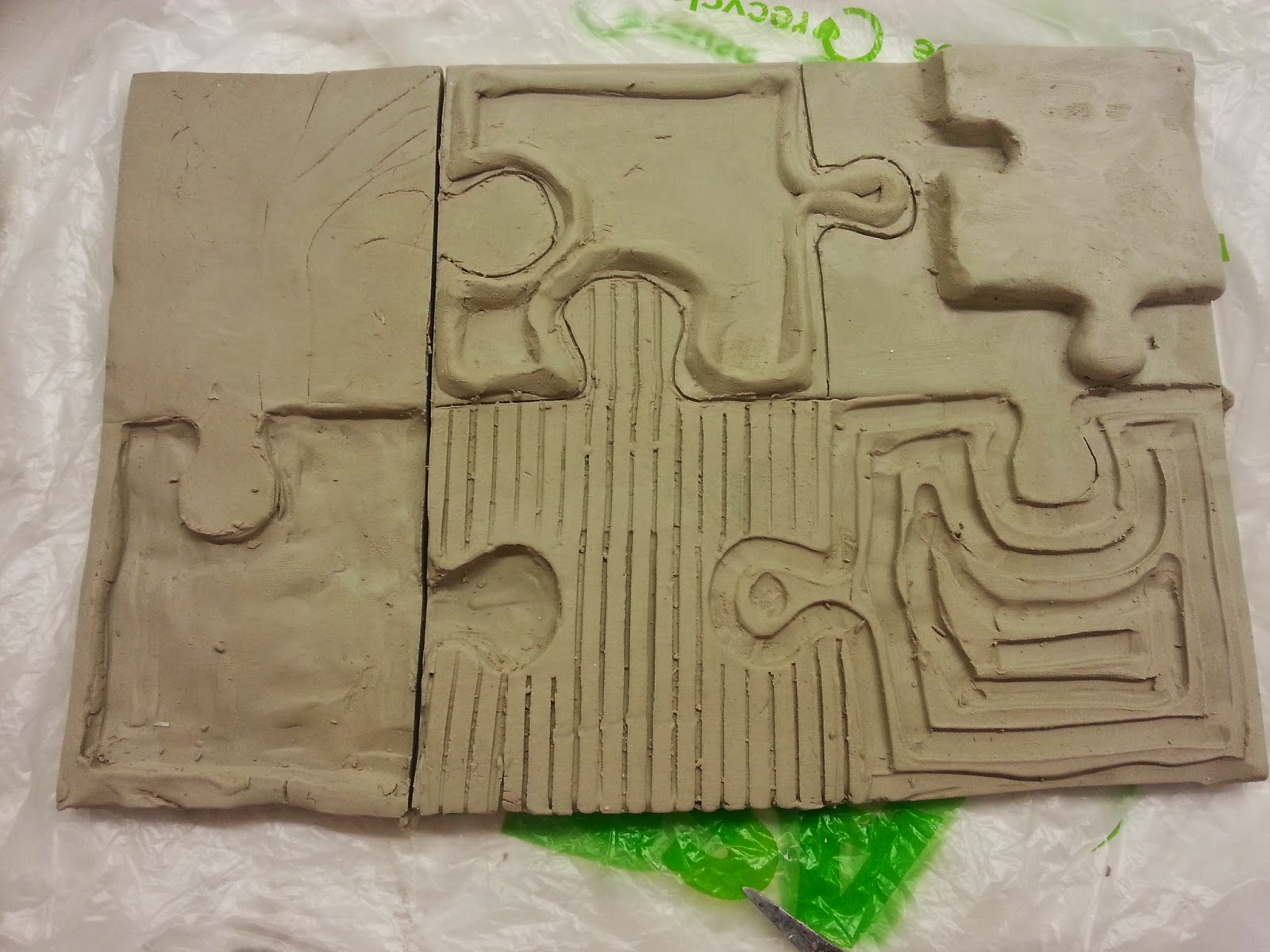 Art and Design: Low Relief Clay Tiles & 3D ceramic