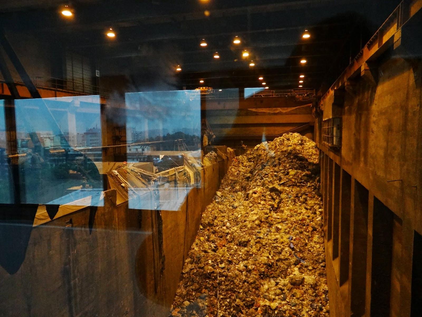 士林國中環境教育專區: 103年12月參訪內湖焚化爐